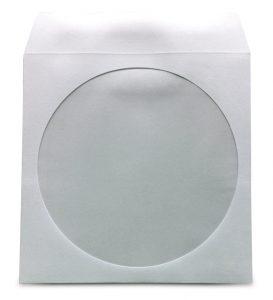 Papierhülle mit Lasche und Sichtfenster