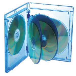 Blu-ray Disc Box für 3, 4, 5 und 6 Discs mit Rückenhöhe 14,5 mm