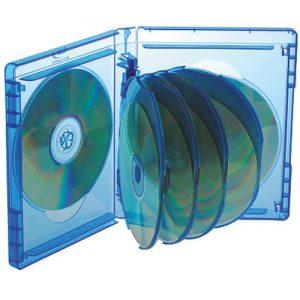 Blu-ray Disc Box für 7, 8, 9 und 10 Discs mit Rückenhöhe 25 mm