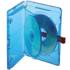Blu-ray Disc Double Red Tag Case für 2 Discs mit Rückenhöhe 14,5 mm